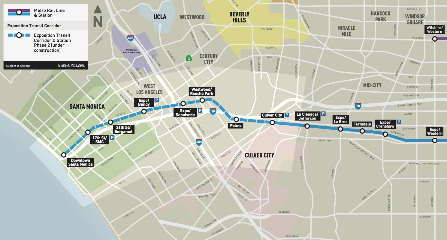 Santa monica metro map - Santa monica metro line map ...