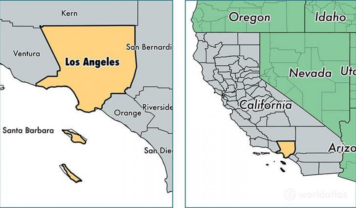 Los Angeles California Mapa.Los Angeles On California Map Map Of Los Angeles